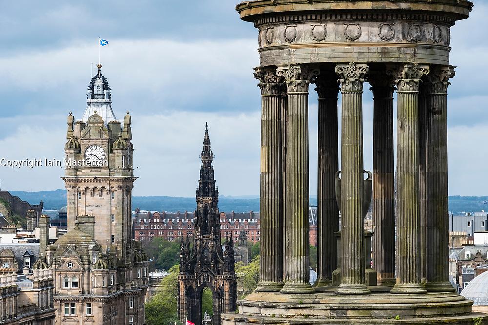 View of Edinburgh from Calton Hill, Scotland, UK