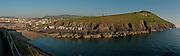 Fenella Beach and headland, Peel, Isle of Man