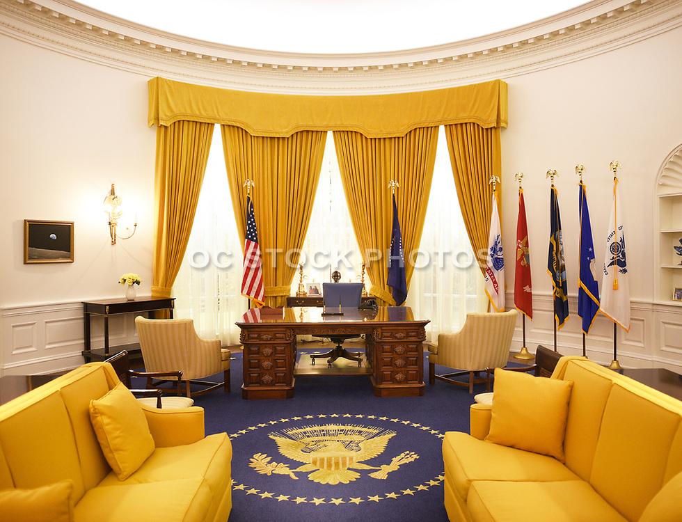 Oval Office Replica at Richard Nixon Presidential Library and Museum Yorba Linda California