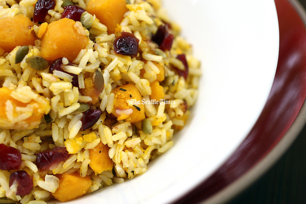 Rice with squash culinary dish.<br /> John Lok / The Seattle Times