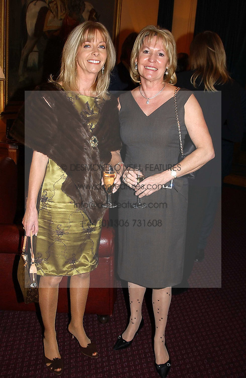 Left to right, CHARLY SPRY and MRS JAN GOWRIE-SMITH at a reception to support The Hyde Park Appeal held in the Officers Mess, Household Cavalry Mounted Regiment, Hype Park Barracks, Knightsbridge, London SW1 on 30th November 2004.<br /><br />NON EXCLUSIVE - WORLD RIGHTS