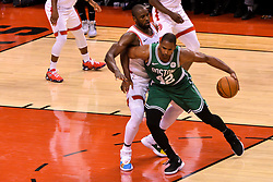 October 19, 2018 - Toronto, Ontario, Canada - Al Horford #42 of the Boston Celtics handles the ball against the Toronto Raptors during the Toronto Raptors vs Boston Celtics NBA regular season game at Scotiabank Arena on October 19, 2018 in Toronto, Canada (Toronto Raptors win 113-101) (Credit Image: © Anatoliy Cherkasov/NurPhoto via ZUMA Press)