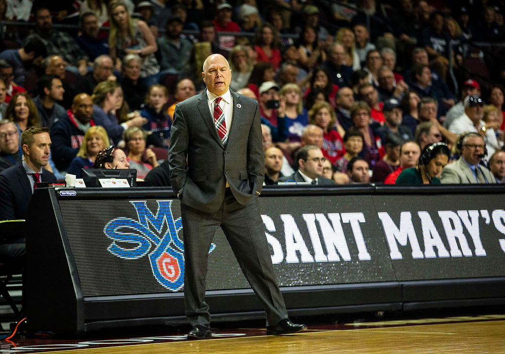 Mar 12 2019  Las Vegas, NV, U.S.A. St. Mary's head coach Randy Bennett during the NCAA  West Coast Conference Men's Basketball Tournament championship between the Gonzaga Bulldogs and the Saint Mary's Gaels 60-47 win at Orleans Arena Las Vegas, NV.  Thurman James / CSM