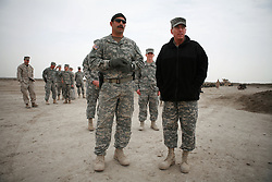 Iraq forces commander General David Petraeus and his immediate subordinate Lt. General ? Odierno attend a change of command ceremony for rotating Polish units in ad-Diwaniyah, a majority Shiia city in southern Iraq. The incoming Polish unit will be the last Polish force to serve in Iraq after Warsaw announced plans to withdraw its troops in the fall. The Polish have third largest national contingent serving in Iraq after the US and Great Britain.raq commander General David Petraeus inspects the work of Army Special Forces soldiers tasked to train potential Iraqi S.W.A.T. police officers at Camp Echo in ad-Diwaniyah. The visit was took place during a visit by Petraeus -   and his immediate subordinate Lt. General Raymond Odierno - to attend a change of command ceremony for rotating Polish units in ad-Diwaniyah, a majority Shiia city in southern Iraq. The incoming Polish unit will be the last Polish force to serve in Iraq after Warsaw announced plans to withdraw its troops in the fall. The Polish have third largest national contingent serving in Iraq after the US and Great Britain.
