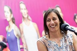 PORTOROZ, SLOVENIA - SEPTEMBER 19:    Katarina Srebotnik of Slovenia during the WTA 250 Zavarovalnica Sava Portoroz at SRC Marina, on September 19, 2021 in Portoroz / Portorose, Slovenia. Photo by Vid Ponikvar / Sportida