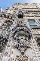 NEW YORK CITY- MARCH 23, 2018 : renaissance style design facade building of the Petrossian restaurant  Manhattan Landmarks