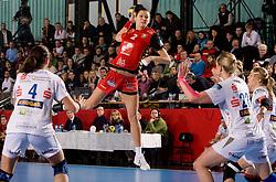 Szandra Zacsik of Krim during 2nd Round of Group 1 at Women Champions League handball match between RK Krim Mercator, Ljubljana and HC Leipzig, Germany on February 13, 2010 in Arena Kodeljevo, Ljubljana, Slovenia. Krim defeated  Leipzig 32-26. (Photo by Vid Ponikvar / Sportida)