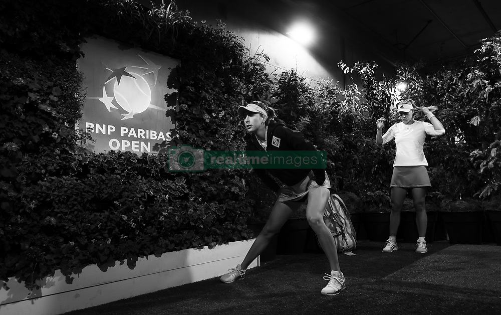 March 15, 2019 - Indian Wells, USA - Belinda Bencic of Switzerland on her way to the court for her semi-final at the 2019 BNP Paribas Open WTA Premier Mandatory tennis tournament (Credit Image: © AFP7 via ZUMA Wire)