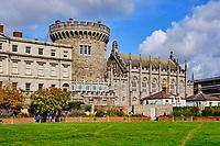 République d'Irlande, Dublin, vue exterieur du Chateau de Dublin (Dublin Castle) // Republic of Ireland; Dublin, Exterior view of the historical Dublin Castle at Dame Street