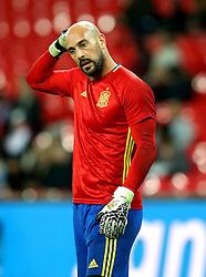 Pepe Reina of Spain - Mandatory by-line: Robbie Stephenson/JMP - 15/11/2016 - FOOTBALL - Wembley Stadium - London, United Kingdom - England v Spain - International Friendly