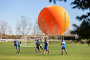 Soccer Players on the Field at The Orange County Great Park in Irvine California
