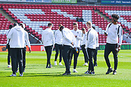 Coventry City players arrive at the ground during the EFL Sky Bet League 1 match between Barnsley and Coventry City at Oakwell, Barnsley, England on 30 March 2019.