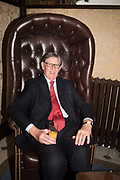SIR BILL CASH; Launch hosted by Quartet books  of Madam, Where Are Your Mangoes? by Sir Desmond de Silva at The Carlton Club. London. 27 September 2017.