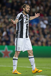 April 19, 2017 - Barcelona, Spain - Giorgio Chiellini of Juventus FC during the UEFA Champions League Quarter Final second leg match between FC Barcelona and Juventus at Camp Nou Stadium on April 19, 2017 in Barcelona, Spain. (Credit Image: © NurPhoto via ZUMA Press)