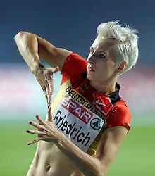 01-08-2010 ATLETIEK: EUROPEAN ATHLETICS CHAMPIONSHIPS: BARCELONA<br /> Ariane FRIEDRICH (GER) - Bronze Medal High Jump Final <br /> ©2010-WWW.FOTOHOOGENDOORN.NL