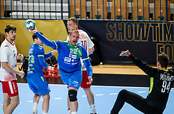 Matej Gaber of Slovenia during handball match between National Teams of Slovenia and Poland in Qualification Phase 2 of Men's EHF Euro 2022 Qualifiers, on March 9, 2021 in Arena Zlatorog, Celje, Slovenia. Photo by Vid Ponikvar / Sportida