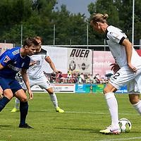 01.08.2020, C-Team Arena, Ravensburg, GER, WFV-Pokal, FV Ravensburg vs SSV Ulm 1846 Fussball, <br /> DFL REGULATIONS PROHIBIT ANY USE OF PHOTOGRAPHS AS IMAGE SEQUENCES AND/OR QUASI-VIDEO, <br /> im Bild Samuel Boneberger (Ravensburg, #17), Vinko Sapina (Ulm, #22)<br /> <br /> Foto © nordphoto / Hafner