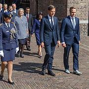 NLD/Den Haag/20180831 - Koninklijke Willems orde voor vlieger Roy de Ruiter, Minister president Mark Rutte en Hugo de Jonge