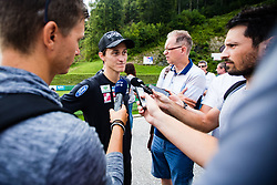 Peter Prevc during interview after practice session of Slovenian national Ski Jumping team on 18 August, 2020, in Kranj, Slovenia.  Photo by Grega Valancic / Sportida
