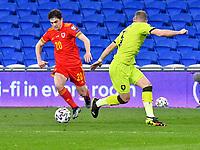 Football - 2022 FIFA World Cup - European Qualifying - Group E - Wales vs Czech Republic - Cardiff City Stadium<br /> <br /> Daniel James Wales cuts inside Vladimir Coufal Czech Republic<br /> <br /> COLORSPORT/WINSTON BYNORTH