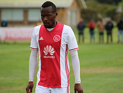 Ajax Cape Town midfielder Innocent Nemukondeni in a friendly game v NFD club Cape Town All Stars at Ikamva on August 10, 2017 in Cape Town, South Africa.