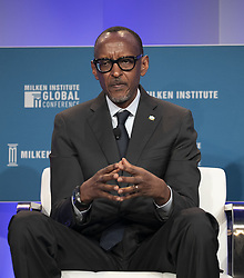 April 30, 2019 - Beverly Hills, California, U.S - His Excellency Paul Kagame during the 2019 Milken Institute Global Conference held Tuesday April 30, 2019 at the Beverly Hilton Hotel in Beverly Hills, California. ARIANA RUIZ/PI (Credit Image: © Prensa Internacional via ZUMA Wire)