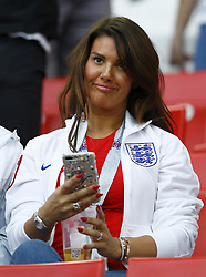 July 3, 2018 - Moscow, Russia - Round of 16 England v Colombia - FIFA World Cup Russia 2018.Jamie Vardy (England) wife Rebekah at Spartak Stadium in Moscow, Russia on July 3, 2018. (Credit Image: © Matteo Ciambelli/NurPhoto via ZUMA Press)