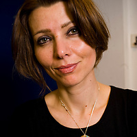 Elif Shafak, award-winning novelist and the most widely read female writer in Turkey. Her books have been translated into more than thirty languages and she was awarded the honorary distinction of Chevalier of the Order of Arts and Letters. Pictured at 5 x 15 event at The Tabernacle west London on the 30th April 2012<br /> <br /> Picture by Nick Cunard/Writer Pictures<br /> <br /> WORLD RIGHTS