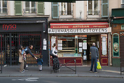 """April, 20th 2020 - Paris, Ile-de-France, France: Parisians isolating in the hope of protecting themselves from the spread of the Coronavirus, during the first month of near total lockdown imposed in France. A week after President of France, Emmanuel Macron, said the citizens must stay at home for at least 15 days, that has been extended. He said """"We are at war, a public health war, certainly but we are at war, against an invisible and elusive enemy"""". All journeys outside the home unless justified for essential professional or health reasons are outlawed. Anyone flouting the new regulations is fined. Nigel Dickinson"""