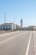 Lighthouse at Forte de Barra, Aveiro, Portugal at the entrance to the Aveiro Lagoon