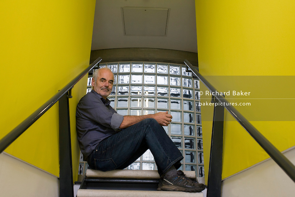 Portrait of mathematician and Risk guru, Professor Sir David Spiegelhalter at the Centre for Mathematical Sciences at the University of Cambridge.