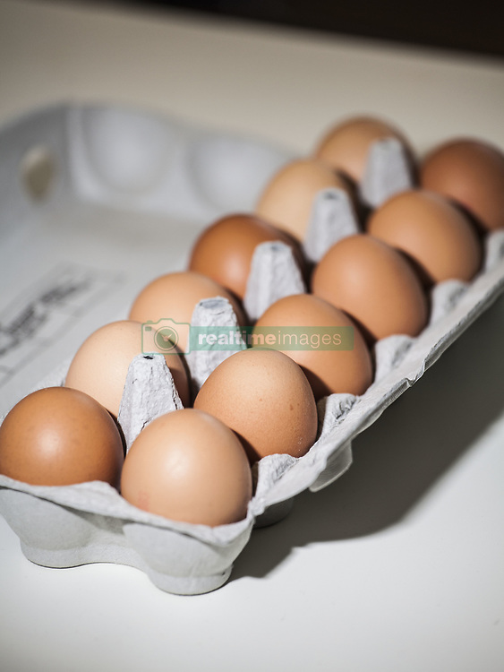August 7, 2017 - Leuven, Belgium - Illustration picture shows eggs from a supermarket. Millions of eggs have been removed from shops in Belgium, the Netherlands and Germany after high levels of insecticide fipronil have been found. Picture taken on August 7, 2017 in Leuven, Belgium. (Credit Image: © Kevin Van Den Panhuyzen/NurPhoto via ZUMA Press)