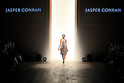 LONDON, UNITED KINGDOM. February 23 2012.The Jasper Conran SS12 Collection on display at London Fashion Weekend, sponsored by Vodaphone and Canon. Held at Sommerset House, London..Photo Credit: Mark Chappell.© Mark Chappell 2012. All Rights Reserved. See instructions.