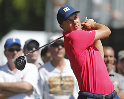 May 26, 2018 - Fort Worth, TX, USA - Jordan Spieth tees off during the Fort Worth Invitational Golf Tournament at Colonial Country Club Saturday May 26, 2018 in Fort Worth, Texas. (Credit Image: © Bob Booth/TNS via ZUMA Wire)