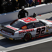 Sprint Driver Brian Keselowski during the Daytona 500 Sprint Cup Race at Daytona International Speedway on February 20, 2011 in Daytona Beach, Florida. (AP Photo/Alex Menendez)