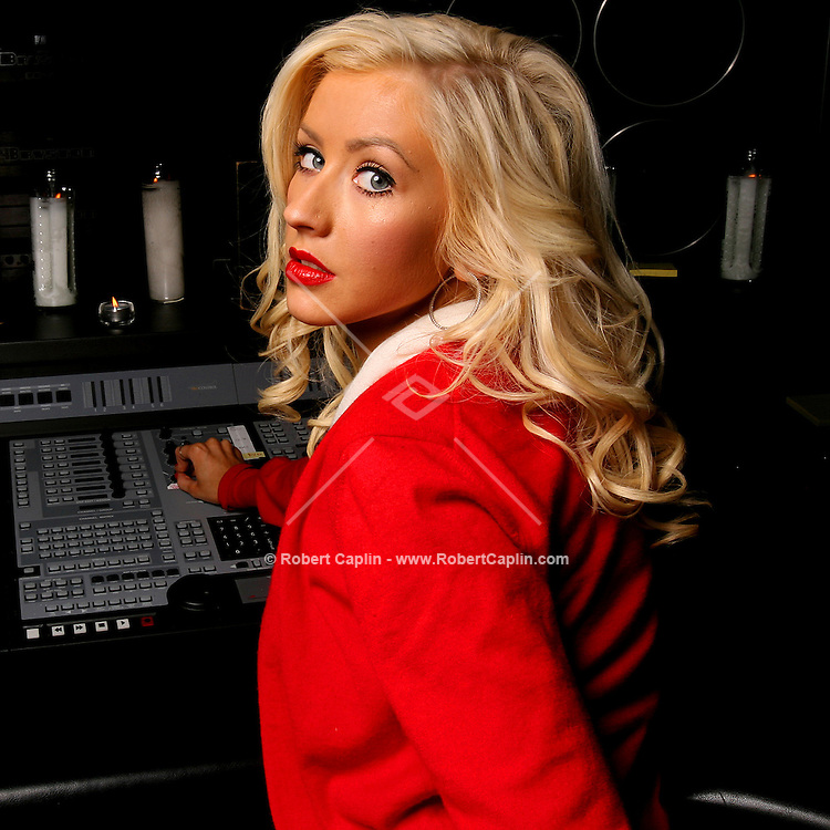 Portrait of Christina Aguilera after listening session for the upcoming release of her new album at Sony Music Studios in Manhattan. June 20, 2006.