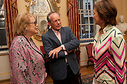 LADY ANTONIA PINTER; SIMON JENKINS; LADY RACHEL BILLINGTON, David Campbell and Knopf host the 20th Anniversary of the revival of Everyman's Library. Spencer House. St. James's Place. London. 7 July 2011. <br /> <br />  , -DO NOT ARCHIVE-© Copyright Photograph by Dafydd Jones. 248 Clapham Rd. London SW9 0PZ. Tel 0207 820 0771. www.dafjones.com.