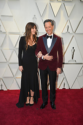 February 24, 2019 - Los Angeles, California, U.S - OLIVIA GRANT AND HER FATHER RICHARD E GRANT during red carpet arrivals for the 91st Academy Awards, presented by the Academy of Motion Picture Arts and Sciences (AMPAS), at the Dolby Theatre in Hollywood. (Credit Image: © Kevin Sullivan via ZUMA Wire)