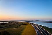 Nederland, Zeeland, Gemeente Schouwen-Duiveland, 16-03-2016;  Philipsdam in de richting van Sint Philipsland, compartimenteringswerk tussen Volkerak en Krammer. <br /> <br /> copyright foto/photo Siebe Swart