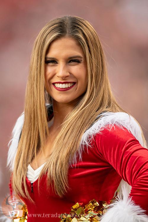 December 23, 2018; Santa Clara, CA, USA; San Francisco 49ers Gold Rush cheerleader Marissa during the fourth quarter against the Chicago Bears at Levi's Stadium.