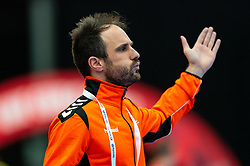 Coach Emmanuel Mayonnade of Netherlands in action during the Women's EHF Euro 2020 match between Croatia and Netherlands at Sydbank Arena on december 06, 2020 in Kolding, Denmark (Photo by RHF Agency/Ronald Hoogendoorn)