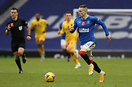Ryan Kent (Rangers) sprints forward during the Scottish Premiership match between Rangers and Livingston at Ibrox, Glasgow, Scotland on 25 October 2020.
