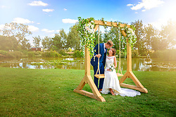 Traditional Oak Wedding Swing Hire for your big day
