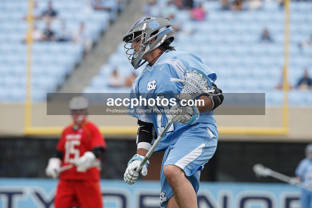 CHAPEL HILL, NC - MARCH 22: Joey Sankey #11 of the North Carolina Tar Heels during a game against the Maryland Terrapins on March 22, 2014 at Kenan Stadium in Chapel Hill, North Carolina. North Carolina won 11-8. (Photo by Peyton Williams/Inside Lacrosse)