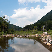 Lower Greeley Pond drains into The Mad River, in the Waterville Valley Area of the White Mountain National Forest, NH
