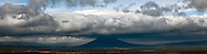 Black Butte in clouds.