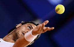 Umag, July 17, 2018  Marco Trungelliti of Argentina competes against  Franko Skugor of Croatia during the first round of 2018 ATP Plava laguna Croatia Open Umag tennis tournamet in Umag, Croatia, on July 17, 2018. Marco Trungelliti won 6:3, 6:4  (Credit Image: © Marko Prpic/Xinhua/Xinhua via ZUMA Wire)