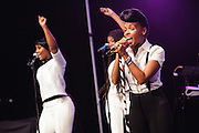Photos of Janelle Monae performing live at iHeartRadio Theater, NYC. July 18, 2013. Copyright © 2013 Matthew Eisman. All Rights Reserved