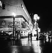 9969-540825. SW Broadway & Washington at night, August 25, 1954