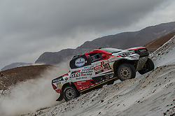 January 10, 2019 - Arequipa, Peru - AREQUIPA, PU - 10.01.2019: DAKAR 20189 - Al-Attiyah Nasser (CAT) during the Dakar Rally 2019, on Wednesday (10), in Arequipa, Peru. (Credit Image: © Duda Bairros/Fotoarena via ZUMA Press)